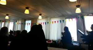 Audience and bunting