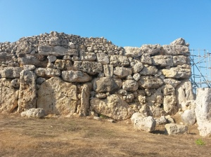 A wall of Ġgantija